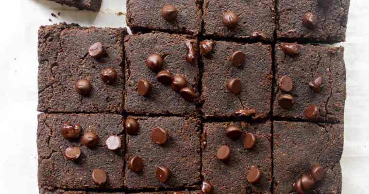 Sugar-free Vegan Black Bean Brownies