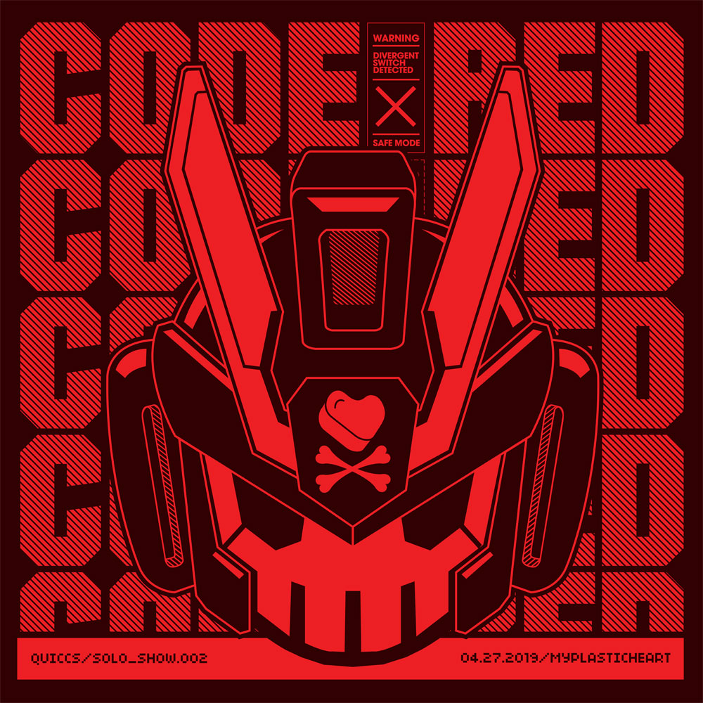 CODE RED – A Solo Exhibition by Quiccs opens April 27