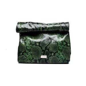 LUNCH PLIK Green Snake Print