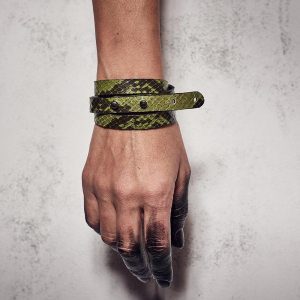 THIN & SLIM BRACELET Green Snake