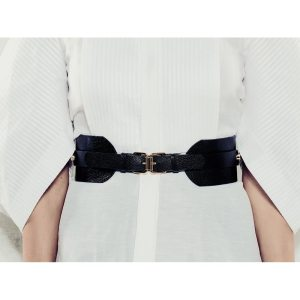 BELT WITH 2 BUCKETS Black