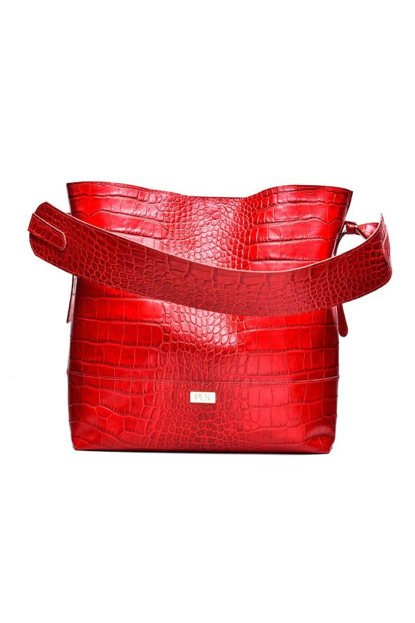 BASIC PLIK Red Croc Print