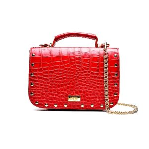 PLIK LOLA Red Croc Print With Caps