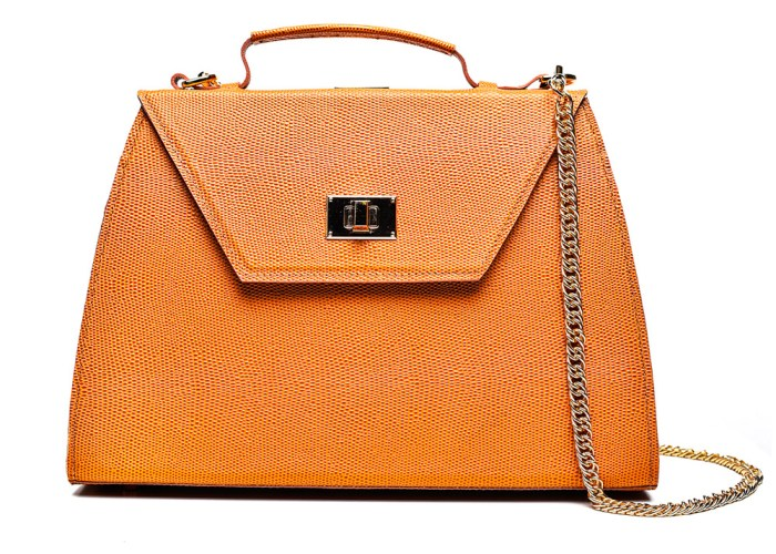 CHARLOTTE PLIK Honey Orange Saffiano