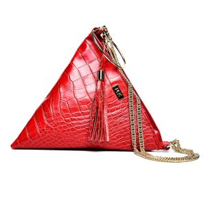 PYRAMID PLIK Red Croc Print