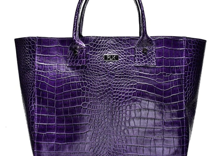 BASKET PLIK Purple Croc Print