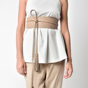 BELT WITH 2 TASSELS Nude