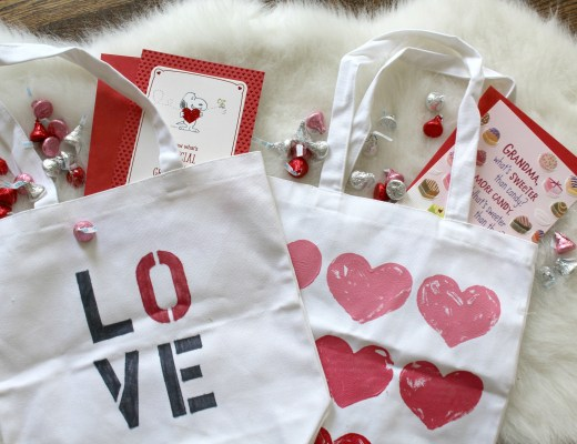 valentine's day canvas bags