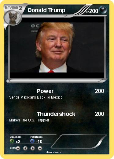 Pokémon Donald Trump 16 16 - Power - My Pokemon Card