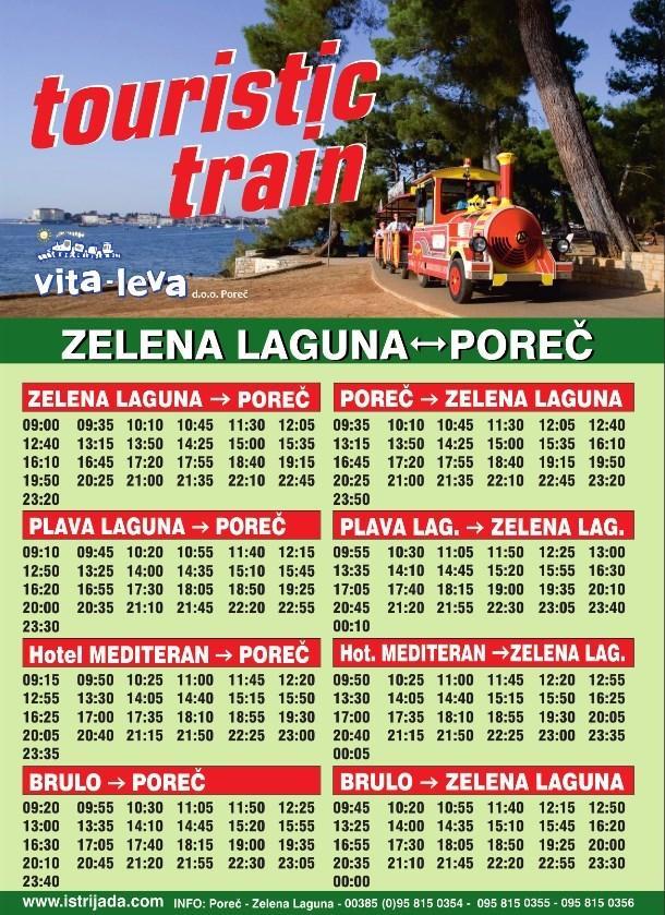 TOURIST TRAIN Transport Porec Istra Istria Official