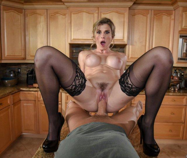 Horny Housewife Cory Chase In Black Stockings And Heels Gets Fucked In Kitchen