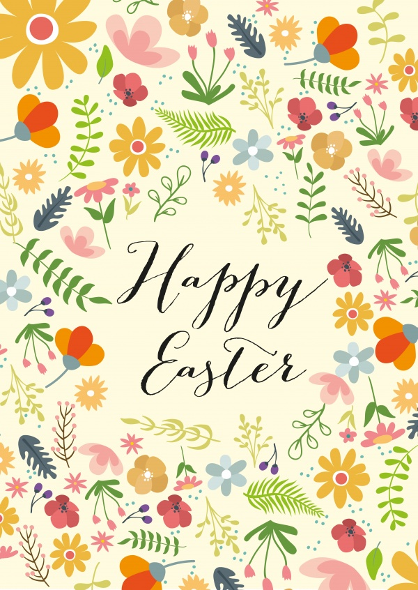 Happy Easter Flower Background Happy Easter Cards Send