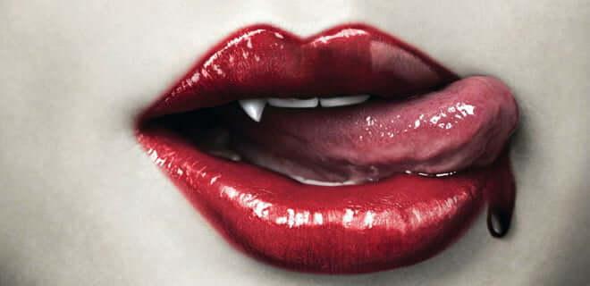 sexy vampire lips