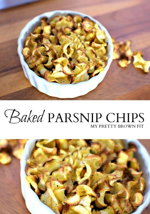 Baked Parsnip Chips - My Pretty Brown Fit