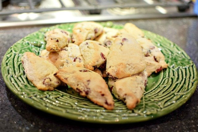 Easy Cranberry Almond Scones - My Pretty Brown Fit