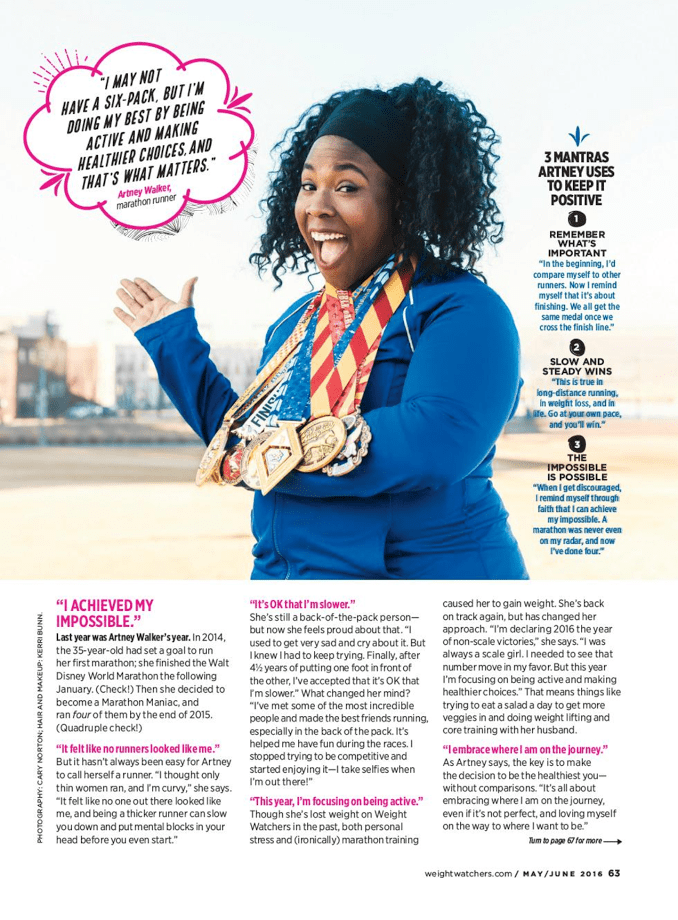 Weight Watchers Magazine Feature - My Pretty Brown Fit