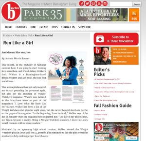"""Run Like A Girl"" B-Metro Feature"