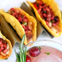 Smoked Turkey Tacos with Cranberry Salsa