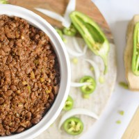 Southern Baked Beans with (Plant-Based) Ground Beef