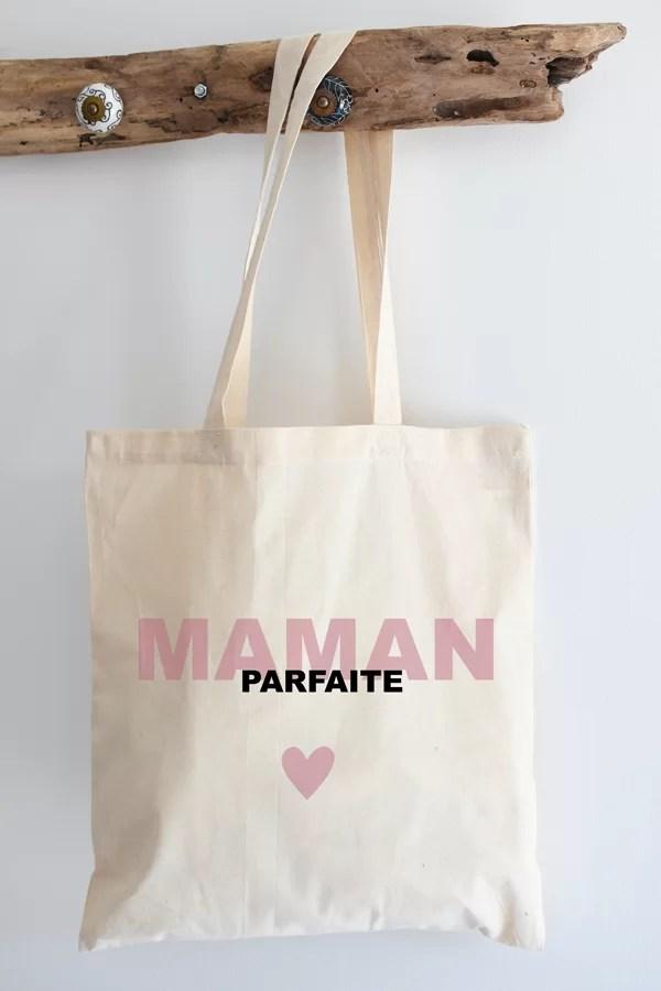 "Tote bag coton ""maman parfaite"""