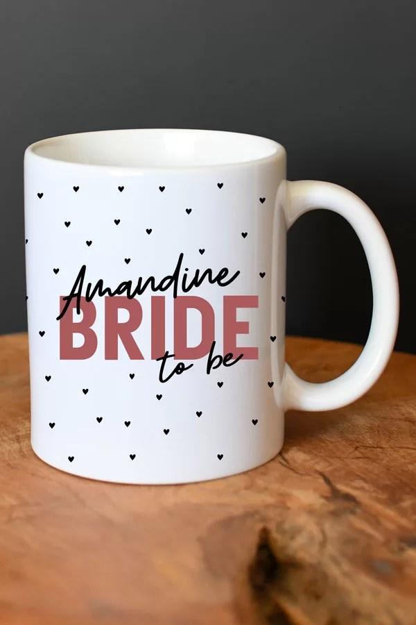 mug personnalisé bride to be EVJF