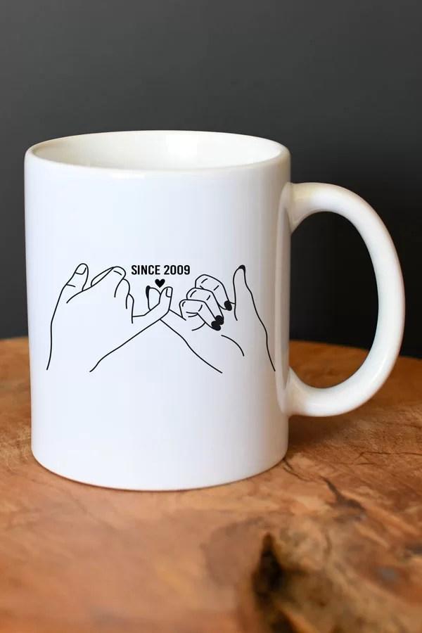 mug personnalisé couple avec date