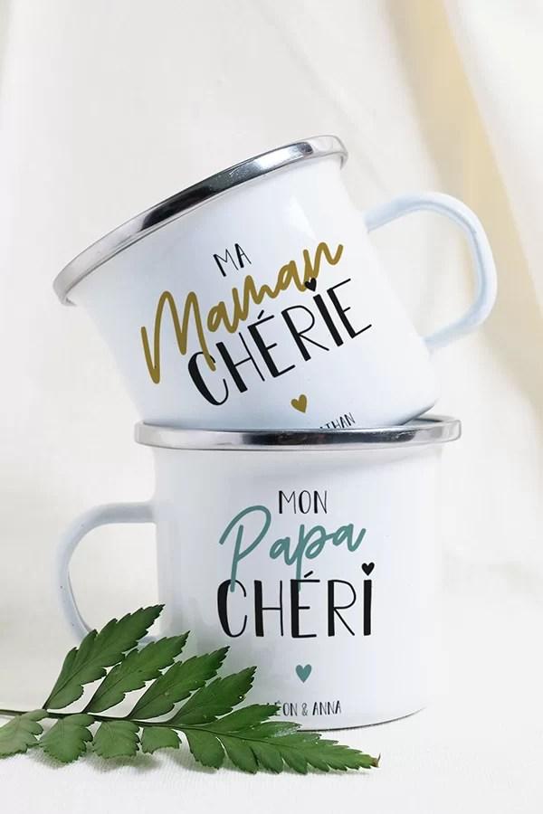 Duo de mug Papa Maman, idée cadeau papa maman