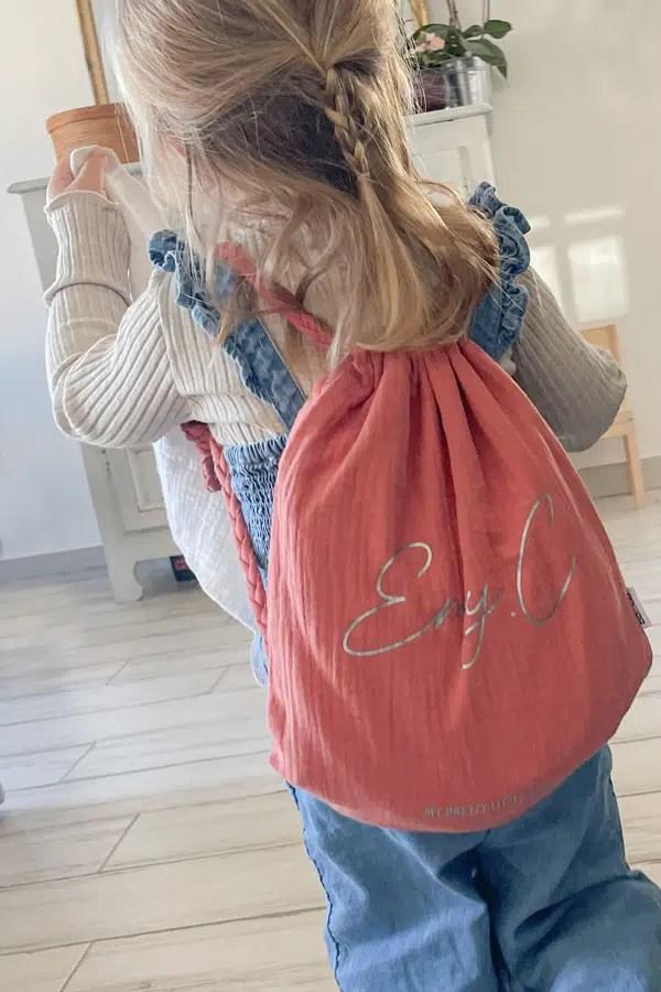 sac a dos personnalise enfant