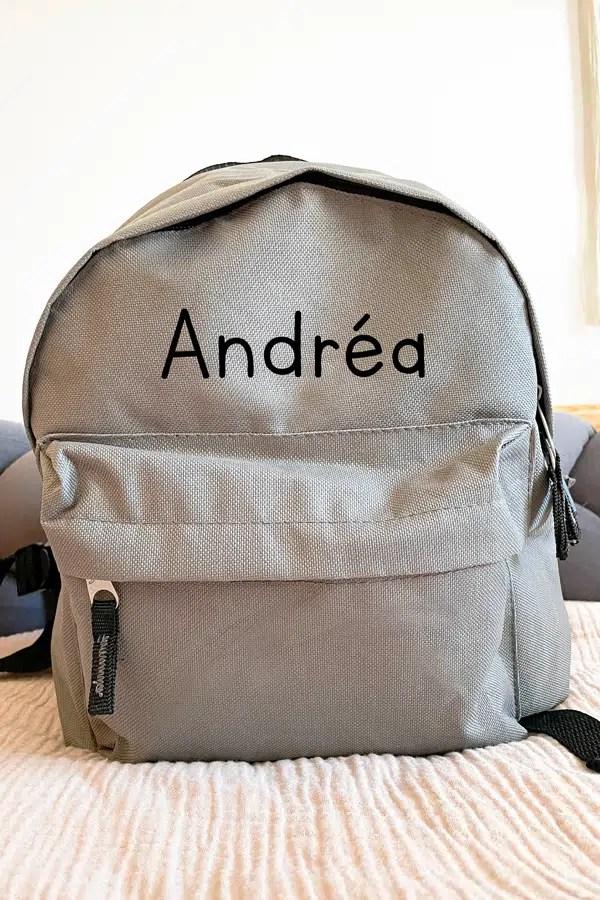 sac à dos gris personnalisé