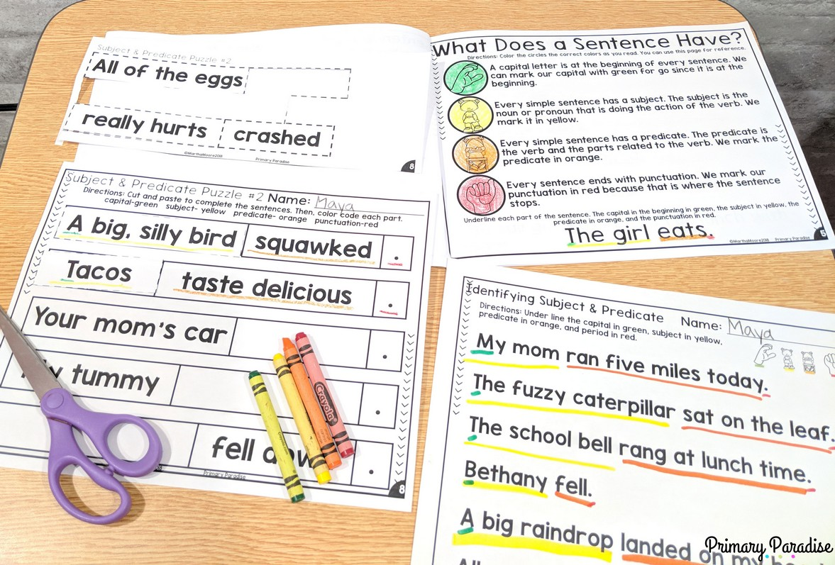 Sentences Using Subject And Predicate To Improve Student Writing
