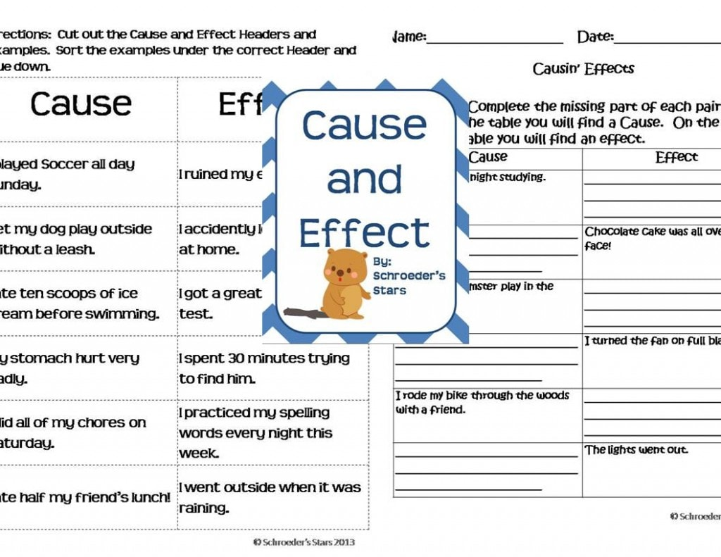 Cause And Effect Reading Comprehension Worksheet Beginner
