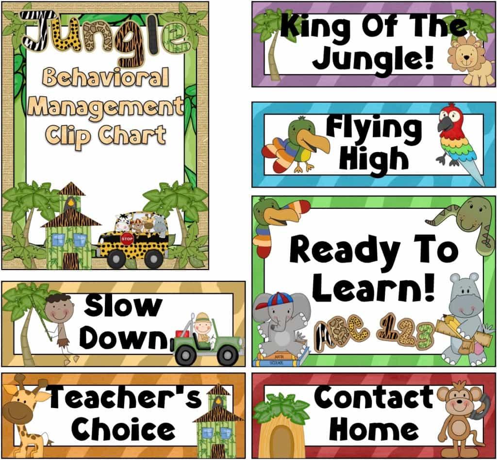 Jungle Theme Classroom Freebies