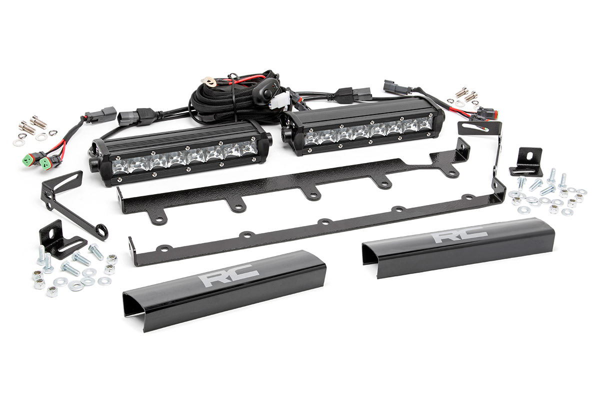 8 Inch Chrome Series Vertical Led Light Bar Grille Kit 2