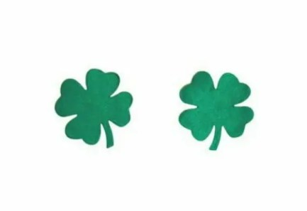 St Patrick's Day Four Leaf Clover Nipple Sticker Pasties