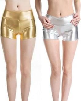 Eye Popping Ladies Metallic Look Short Shorts