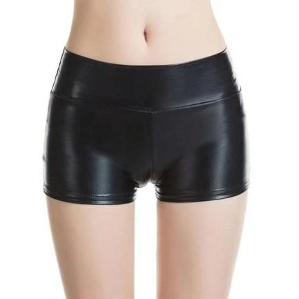 Black Metallic Shorts
