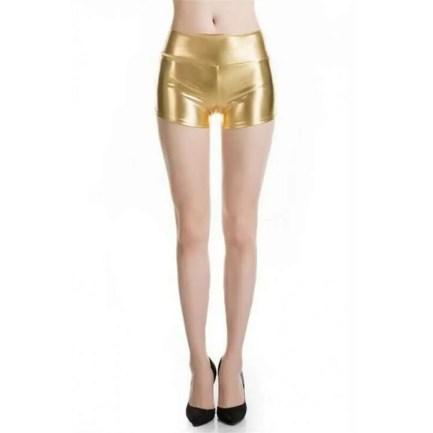 Gold metallic shorts