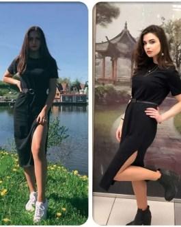 Dress-TShirt Style-Maxi-Ladies Fashion Dress
