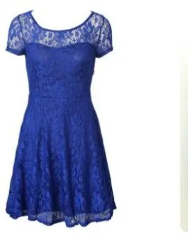 Pretty Lace Short Sleeve Party Dress in Black, Blue, Red – Women Size XL