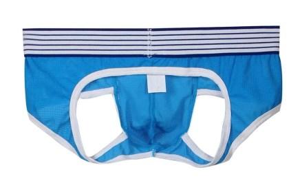 Open back brief with fine mesh men's underwear