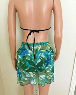 Sarong, Sheer Foliage Pattern, Women Swimwear Accessories