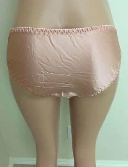 Silk lace trim bikini panties