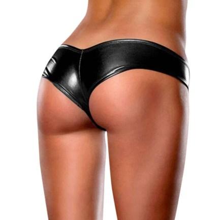 Shiny Metallic Sheen Tanga Panties