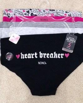 FIVE PAIR SET XOXO Brand Spandex Bikini Panties