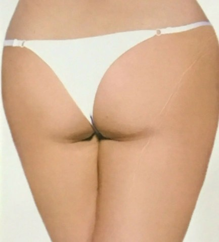 Flower Weave Front Panties with Jewel Accent
