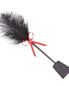 Leather Paddle And Feather Tickler BDSM Cosplay Tease Toy