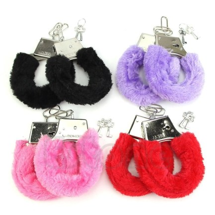 Furry Handcuffs with key