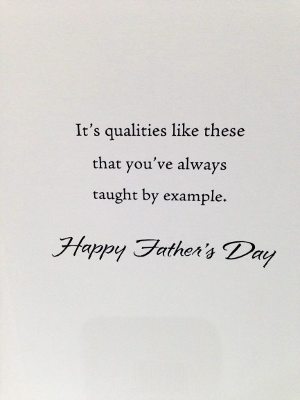 Father's Day Greeting Card Inside