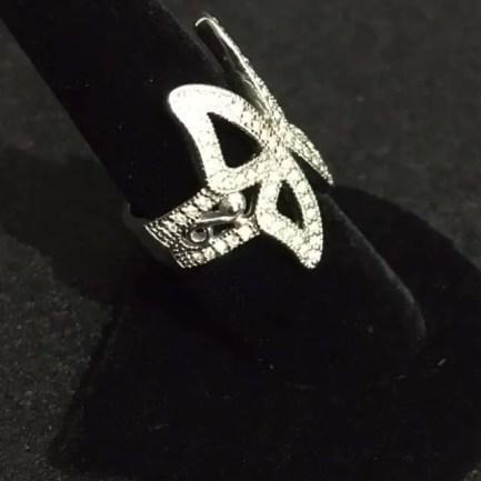 Silvertone Butterfly Ring