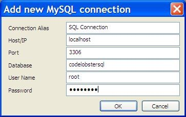 SQL Manager in CodeLobster PHP IDE